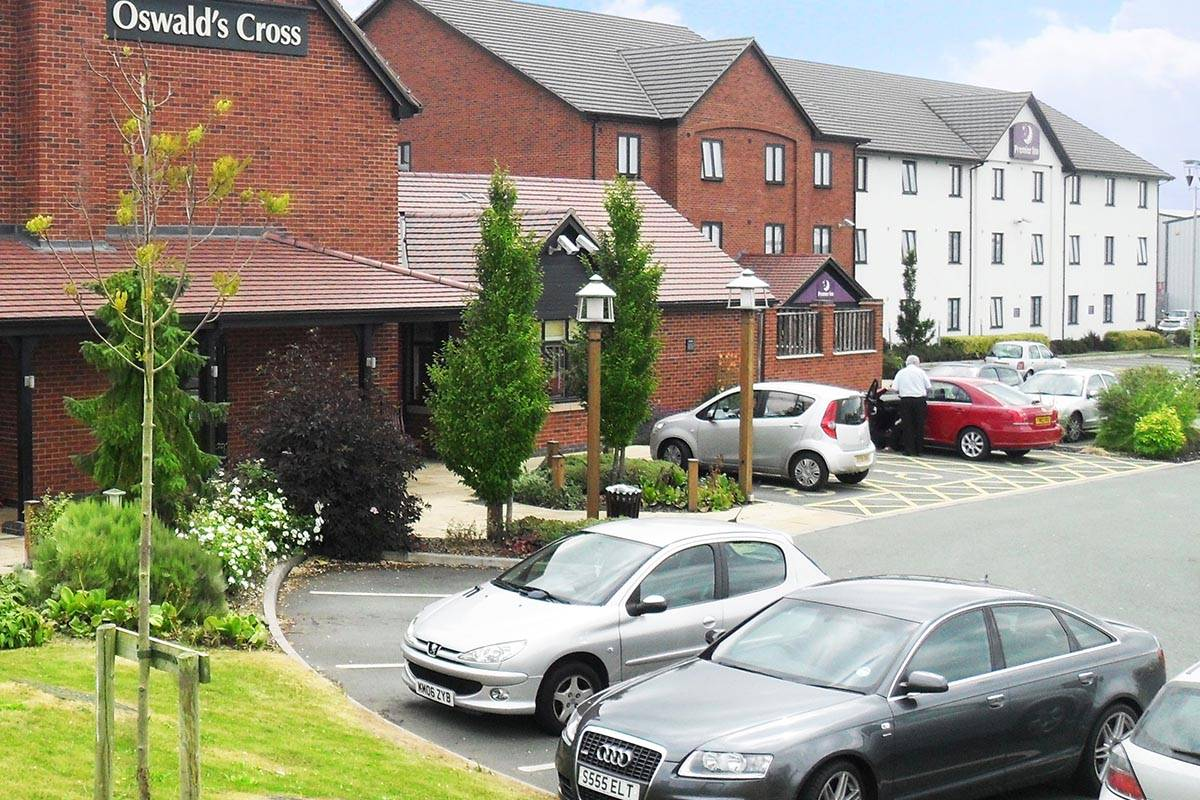 Premier Inn and Table Table Restaurant, Oswald Cross, Oswestry, Shropshire