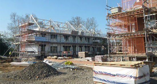 Steel framing foundation for luxury homes