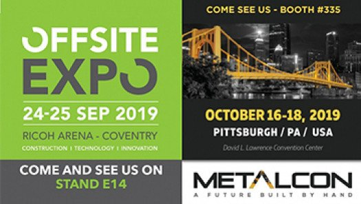 Join us at Offsite Expo UK and Metalcon USA